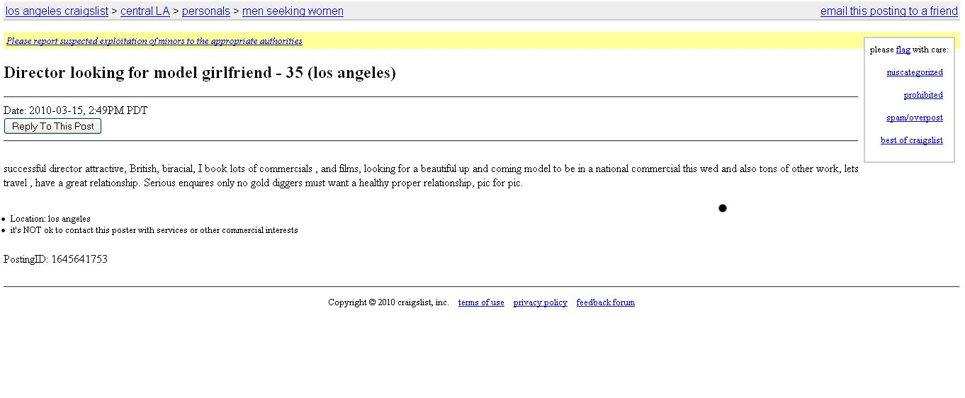 Craigslist dating los angeles